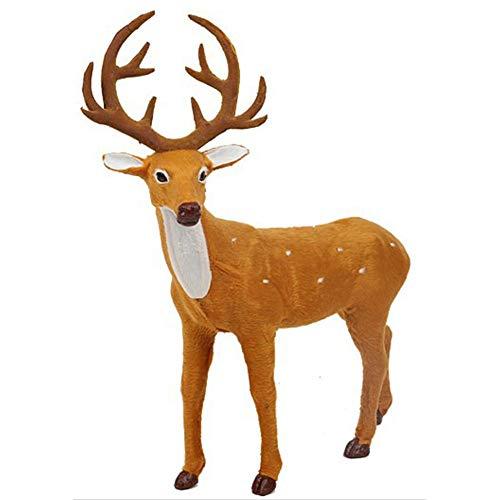 PatyHoll 30x23cm Christmas Decorations Elk Deer Plush Simulation New Year Xmas Ornaments for Home Gift Navidad