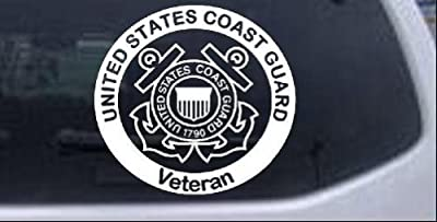 United States Coast Guard Veteran Military Car Window Wall Laptop Decal Sticker