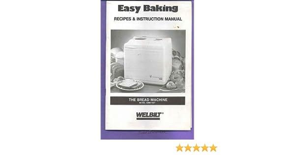 Amazon Welbilt Abm4100t Bread Manual Recipes Booklet Welbilt