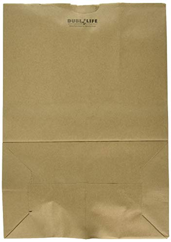 (Duro Heavy Duty Kraft Brown Paper Barrel Sack Bag, 57 Lbs Basis Weight, 12 x 7 x 17, 100 Ct/Pack)