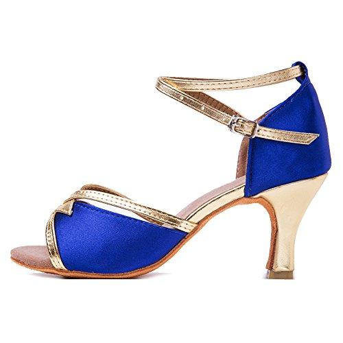 zapatos danza zapatos satén hipposeus de salón 7cm baile de modelo