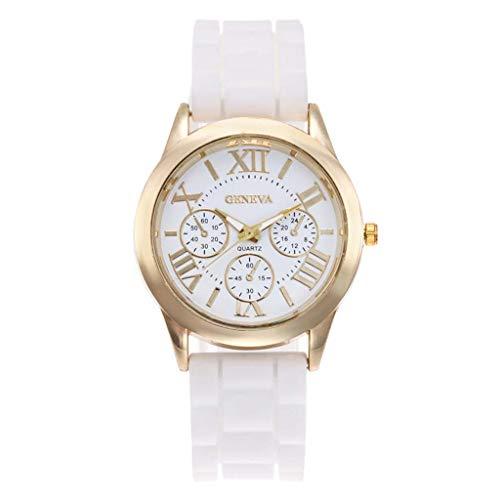 - TIFENNY Fashion Luxury Quartz Watch Three Eye Roman Scale Dial Casual Silicone Strap Men's Watch