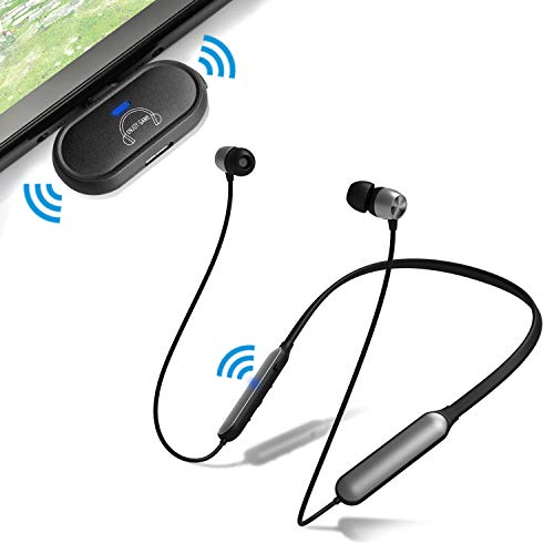 Giveet Wireless Gaming Headset for Nintendo Switch, PS4, PC, w/USB Bluetooth 5.0 Transmitter Adapter, Noise Canceling Game Headphones Earbuds Support in-Game Voice Chat, Plug n Play, No Audio Delay