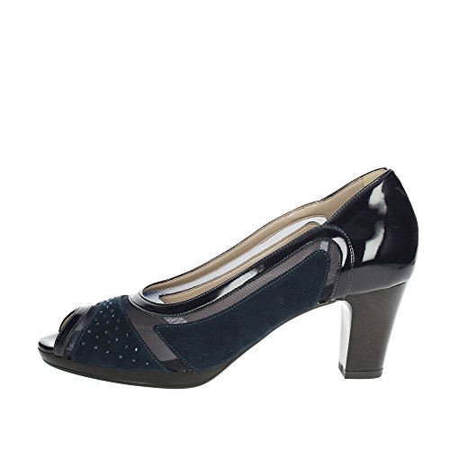 311871 Open Chaussures Soft Cinzia Femme Toe Toe Toe Bleu 0q6a1BwCx in self 6de310