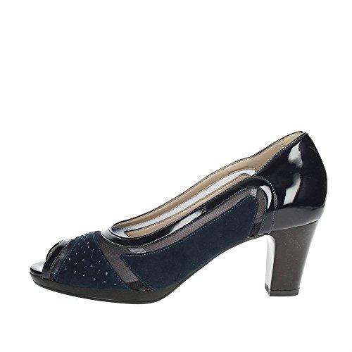 Bleu Cinzia Doux Femmes Cinzia À Chaussures Doux Ouvert Bout 311871 8SqOwR18n
