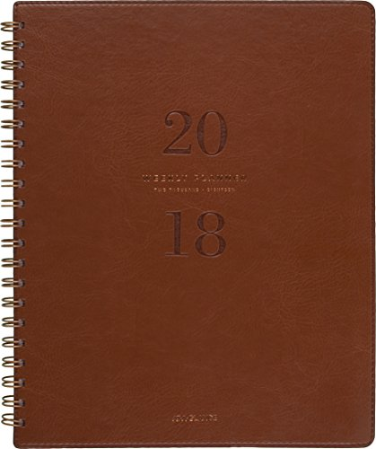 """AT-A-GLANCE Weekly / Monthly Planner, January 2019 - January 2019, 8-3/4"""" x 11"""", Signature Collection, Brown (YP90509) hot sale"""