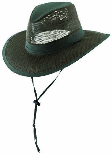 Ultra Lightweight Mesh Supplex SAFARI HAT by Dorfman Pacific (M, (Dorfman Pacific Mesh Safari Hat)