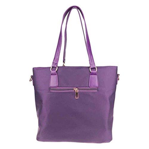 tout Sac Sac Tissu fourre à Messenger unique Sac kit Violet femmes Set Violet Lady 6pcs Noir Oxford Arichtop bandoulière qA76Xxw