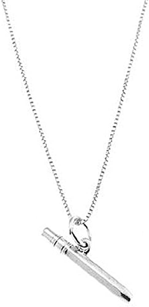 Lgu Sterling Silver Oxidized 3D Titanic Ship Charm Pendant with Box Chain Necklace