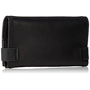 Diesel Men's Raised up Keycase P-Wallet and Key Holder, Black, One Size