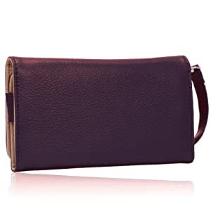 Purple Color Skyrocket Wallet Purple Clutch Carrying Cover Case Pouch for Htc T.Mobile G2 Mobile Phone Case , Wallet Wrist-let Strap Pouch + Tougs stylus