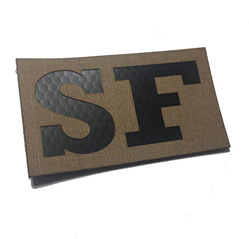 Empire Tactical USA Security Forces SF 3.5x2 Inch Infrared Coyote Spice Brown IR Reflective Us Flag Patch