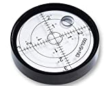 Ubei Aluminium Case Precision Round Bullseye Bubble Level Spirit Bubble Surface Level Inclinometers for Surveying Instruments and Tribrachs, Ø60mm,Accuracy 15'/2