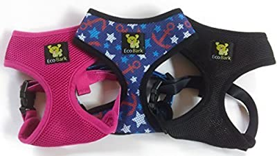 The Original EcoBark Control Dog Harness; No Pull & No Choke Design, Luxurious Padded Vest, Eco-Friendly, for Puppies and Dogs