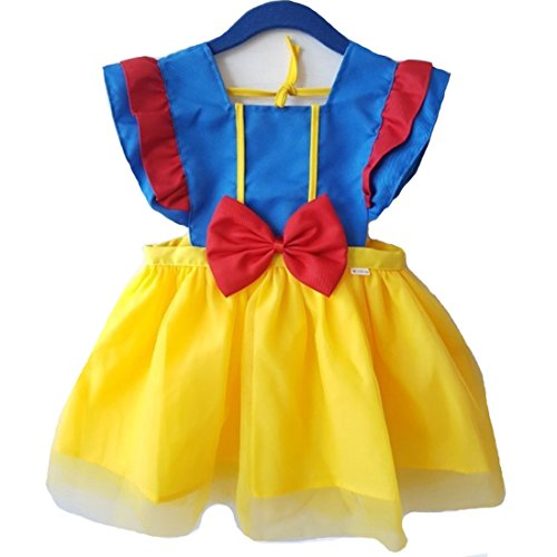 HARRA Girls Princess Kitchen Apron, Anime Costume Dress for fancy halloween party gift (6T)