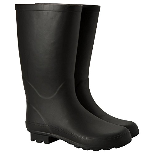 Mountain Warehouse Stream Womens Wellies -Waterproof Wellington Boots Black 7 M US Women by Mountain Warehouse