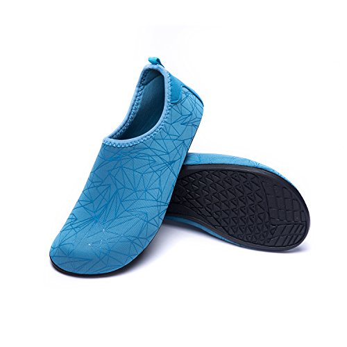 Respirable Soles de Rápido de Playa Unisex Xzx Agua Calzado Natación blau LEKUNI Piscina Zapatos Color de Secado de LK Zapatos Agua de 4p87fFv