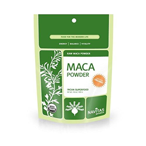 Maca Powder 16 Oz Bag (Navitas Naturals Organic Raw Maca Powder, Incan Superfood, 16-Ounce Pouch ( 2-Pack))