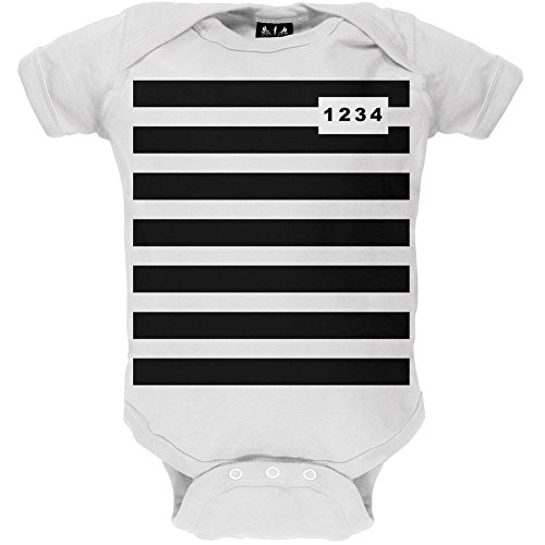 Prisoner Costume Baby One Piece - 12-18 months (Girl Prisoner Costume)