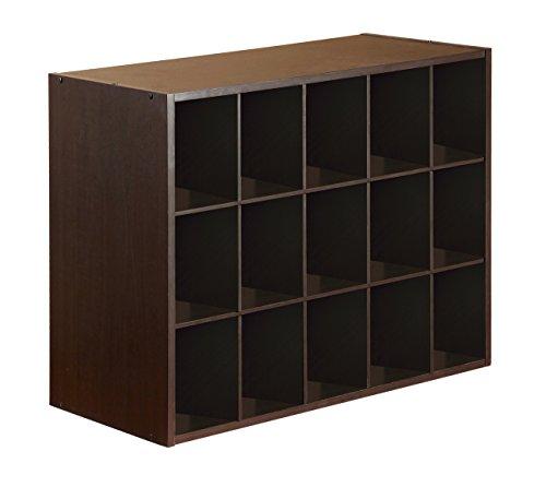 15-Cube Organizer, Espresso (Organizer Cube 15)