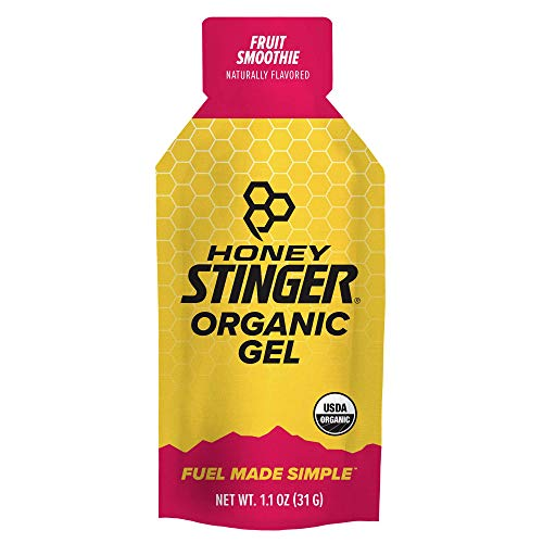 Honey Stinger Organic Energy Gel, Fruit Smoothie, Sports Nutrition, 1.1 Ounce Pack of 24