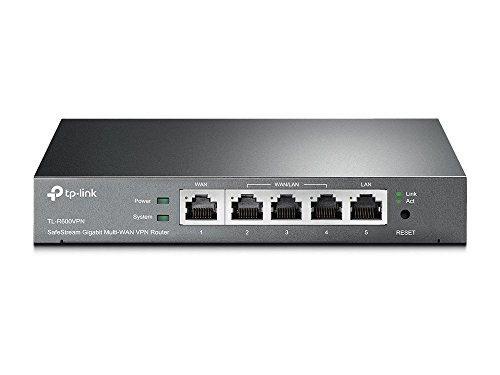 TP-Link SafeStream TL-R600VPN Gigabit Broadband Desktop VPN Router, 680M NAT throughput, 20k Concurrent Sessions,...
