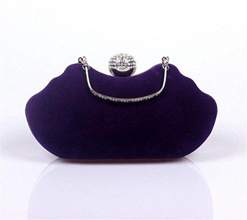 Soirée main Sac Mariage Velours à purple Party Dress Épaule Clutch Femme Sacs a5qpAA