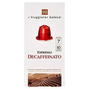 Il Viaggiator Goloso 10 Capsule Caffè Decaffeinato Compatibili Sistema Nespresso - 50 g