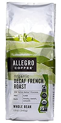 Allegro Coffee Decaf Organic French Roast Whole Bean Coffee, 12 oz