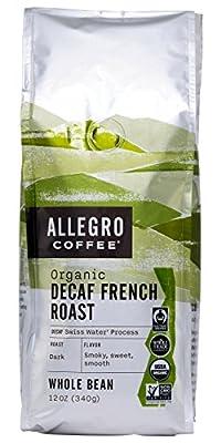 Allegro Coffee Decaf Organic French Roast Whole Bean Coffee, 12 oz by Allegro Coffee