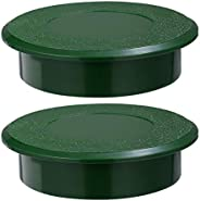 BESPORTBLE 2pcs Golf Hole Cup Cover Green Golf Putting Holes Cover Plastic Putting Golf Cup for Golf Hole Prac