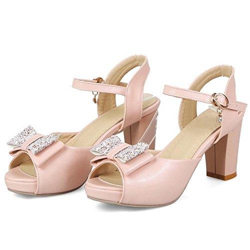 Talons Bloc JOJONUNU Pink Sandales Fete Femmes vOnS4