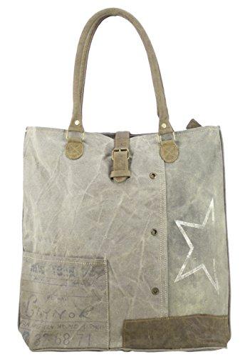 Buying Vintage Bag Lady Sunsa Shoulder Bag Handbag Made Of Fabric / Leather 51425