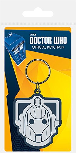 Official Doctor Who Cyberman Rubber Keyring -
