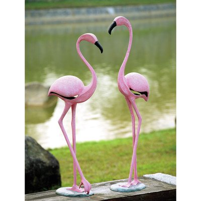 SPI Home 33349 Pink Flamingo Pair Sculpture