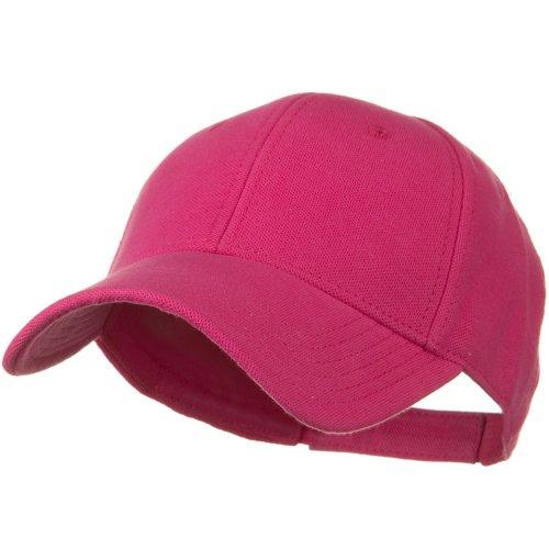 Comfy Cotton Pique Knit Low Profile Cap - Hot Pink