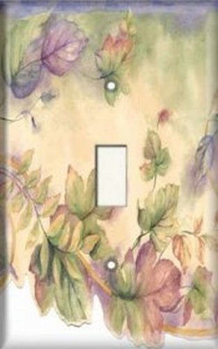 Decorative Light Switch Plate Cover - Colorful Leaves