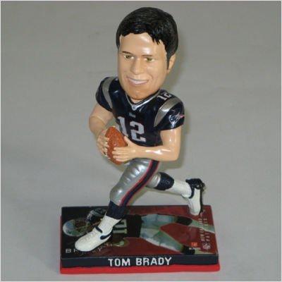 NFL Photo Base Bobber Figures - Tom Brady - New England Patriots by Hall of Fame Memorabilia