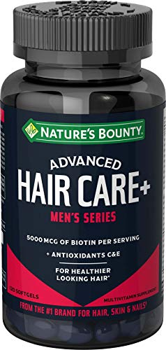 Nature's Bounty Biotin, Advanced, Men's Series, Hair Care, 120 Count