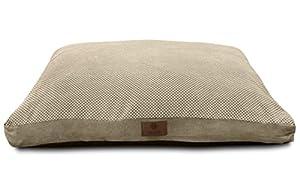 B00ZFQY5UUX1H American Kennel Club Reversible Pixel Gusset Pet Bed, Tan