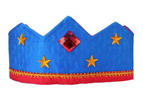 [Sarah's Silks - Reversible Silk Crown - Royal Blue/Red] (Three Kings Costumes Make)