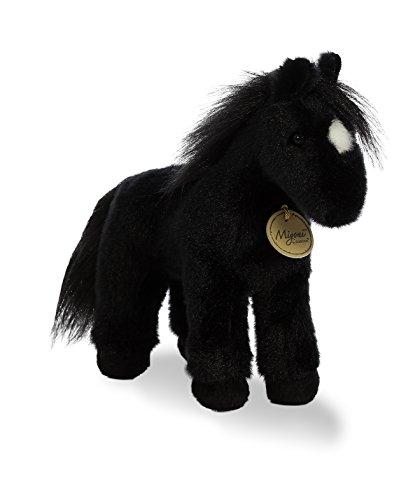 Aurora World Miyoni Plush Black Horse Plush Toy, - Farm Horse Black