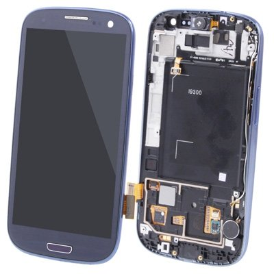 CAIFENG Repair Replacement Parts New LCD Display + Touch Panel with Frame for Galaxy SIII / i9300 (Navy Blue) Phone Touch Screen (Color : Color1)