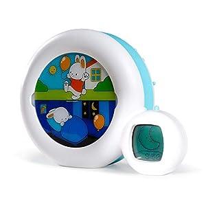 Claessens' Kid - Moon 3 en 1 (veilleuse, indicateur & réveil) - Reveil Musical Enfant Educatif Jour/Nuit Lumineux - Blanc 9