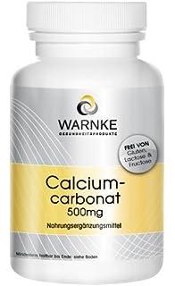 Carbonato de calcio – productos para la salud Warnke – 188mg de Calcio – paquete grande – 500…