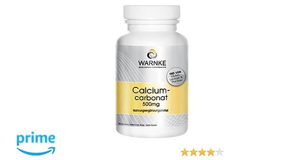 Carbonato de calcio - productos para la salud Warnke - 188mg de Calcio - paquete grande - 500 pastillas masticables - Vegano: Amazon.es: Salud y cuidado ...