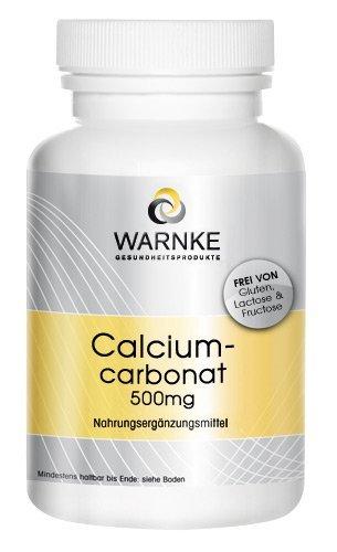 Carbonato de calcio – productos para la salud Warnke – 188mg de Calcio – paquete grande