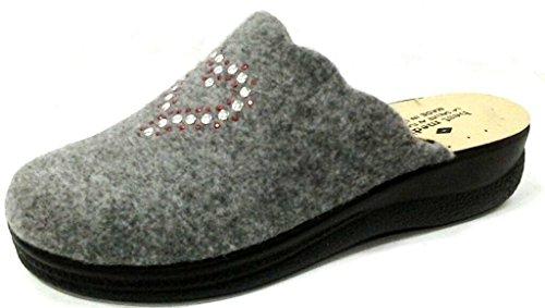 BEST MEDICAL - Zapatillas de estar por casa para mujer gris gris 40