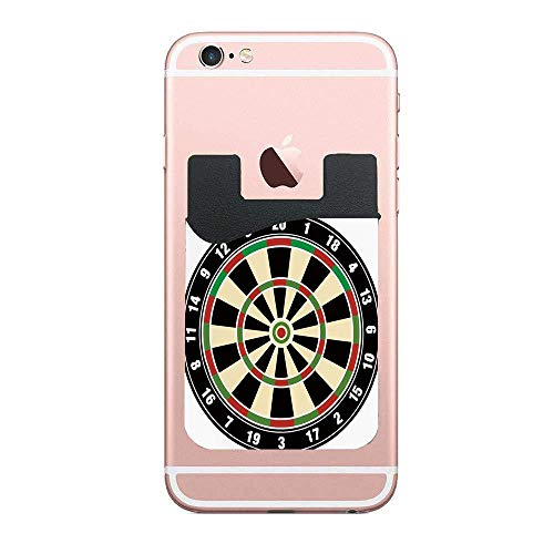 (Dart Board Numbers Sports Accuracy Precision Target Leisure Time Graphic,Vermilion Green Black Trendy 2 PCS Wallet Stick-on Card Wallet Card Holder for iPhone, Android, and More)