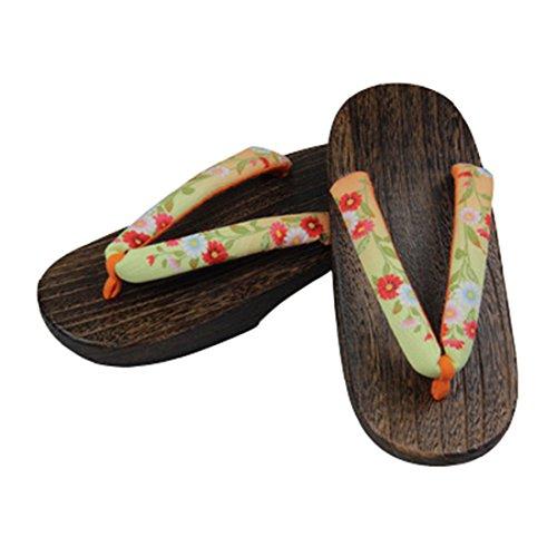 Ez-sofei Mujeres Japanese Zapatos Geta De Madera Zuecos C-2-floral